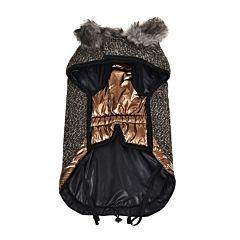 Jacheta pentru caini, cu blanita, 35 cm, Multicolor