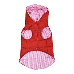 Jacheta cu 2 fete pentru caini, 40 cm, Portocaliu