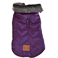 Hainuta de iarna pentru caini, fas, 45 cm, Violet