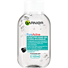 Gel curatare maini, Garnier Pure Active, 125 ml