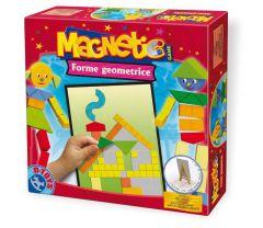 Joc magnetic cu forme geometrice, D-Toys