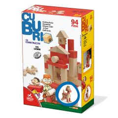Cuburi lemn 94 de piese, D-Toys