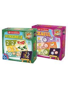 Set 2 jocuri educationale Numerele&Ceasul, D-Toys
