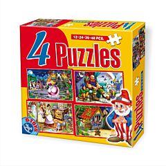 Set puzzle 4 bucati Basme, D-Toys