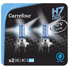 Bec auto BV H7 12V 55W, 2 bucati, Carrefour