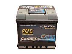 Baterie auto carbon EFB ZAP 12 V, 55 Ah