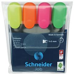 Textmarker Job, set 4 bucati asortate, Schneider