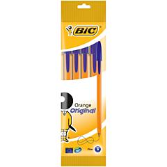 Pix Orange Fine albastru, set 4 bucati, Bic