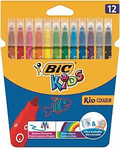 Markere colorate ultralavabile 12 buc Bic