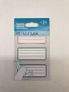 Etichete scolare Carrefour, 34x75mm, 15 buc