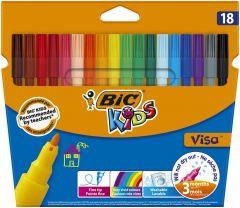 Markere de colorat BIC Kids Visa 18 buc