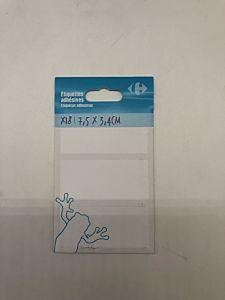 Set etichete adezive Carrefour, 34x75mm, 18 buc
