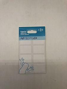 Set etichete adezive Carrefour, 34x75mm, 48 buc,