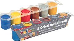 Tempera metalizata Morocolor, 25 ml, 6 culori/set