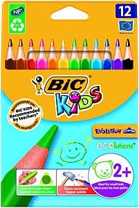 Creioane colorate Evolution Triunghiulare, 12 bucati