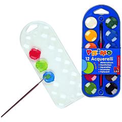 Acuarele cu pensula Morocolor, diametru pastila 25 mm, 12 culori/set