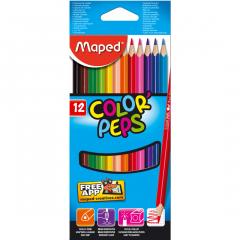 Creioane colorate Maped 12 culori