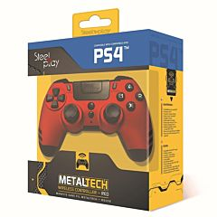 Controller PS4 Rosu Steelplay Metaltech, Wireless, Dualshock