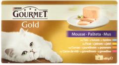 Pachet Conserve cu ton, curcan, ficat si vita Gourmet Gold 340g