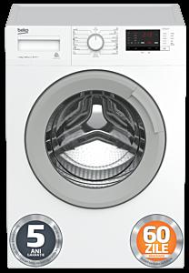 Masina de spalat rufe WTV8512XSW Beko, 8 kg, 1000 RPM, A+++, Aquawave