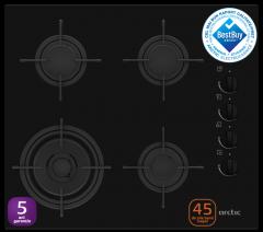Plita incorporabila ARSGN64121SL Arctic, 4 arzatoare, Gaz, Sticla