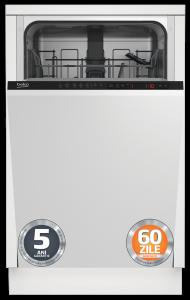 Masina de spalat vase DIS25011 Beko , 10 seturi, 5 programe, incorporabila  Clasa A+, 45 cm