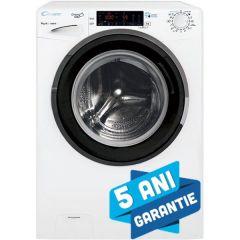 Masina de spalat rufe GVS 149THN3 Candy, Incarcare frontala, 9 kg, 1400 rpm, clasa A+++ Motor Inverter, Abur, conectivitate NFC Alb