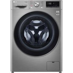Masina de spalat rufe F4WN609S2T LG, 9 kg, 1400 RPM, Clasa A+++, Direct Drive, Turbo Wash, Steam, Smart Diagnoisis, WiFi, Argintiu