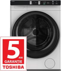 Masina de spalat cu uscator Toshiba TWD-BJ90W4, Spalare  8Kg, Uscare 8 Kg, 1400 RPM, Clasa A, Alb
