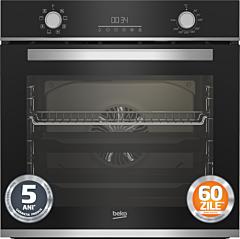 Cuptor incorporabil Beko BBIM13300XM, Clasa A, 8 functii, 72 de Litri, 3D Cooking, Negru/Inox