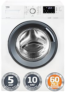 Masina de spalat rufe Beko WUV8512XSW, A+++, 8 Kg, 1000 rotatii, SteamCure, Alb