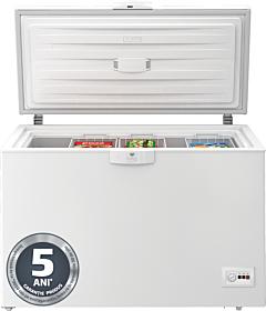 Lada frigorifica Beko HSA29540N, 284 Litri, Clasa E, Iluminare interioara, Alb