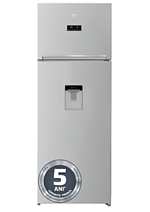 Frigidercu 2 usi Beko RDNE505E30DZMN, 446 Litri, Clasa A++, Dispenser apa, Neo frost, Gri
