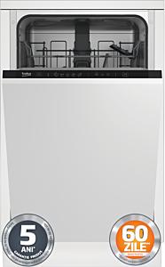 Masina de spalat vase incorporabila Beko DIS35023, 10 seturi, 5 programe, Clasa A++