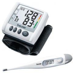 Tensiometru de incheietura Beurer BC30 + Termometru electronic Beurer FT09