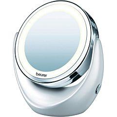 Oglinda cosmetica iluminata Beurer BS49, LED, Baterie, Argintiu