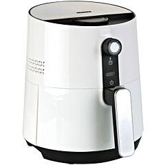 Friteuza cu aer cald HAF-1300WH Heinner, 1300 W, 2.6 l, Timer, Termostat, Panou de comanda mecanic, Temperatura 0-200grade, Alb