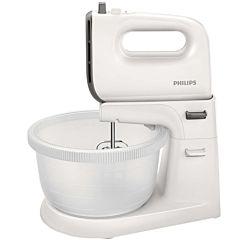 Mixer cu bol HR3745/00 Philips, 450 W, 5 trepte de viteaza, Bol 3 L, Alb