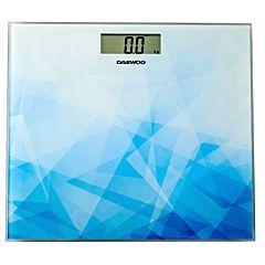 Cantar electronic de persoane DBS210AB Daewoo, 150 kg, Sticla, Albastru