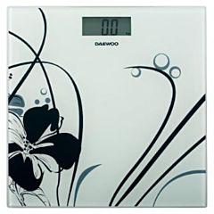 Cantar electronic de persoane DBS210W Daewoo, 150 kg, Sticla, Alb
