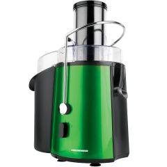 Storcator de fructe si legume XF-1000GRSP Heinner, 1000 W, Recipient suc 1 L, 2 Viteze, Verde metalic