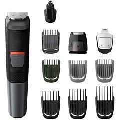 Aparat de tuns barba si parul Multigroom MG5730/15 Philips, 11 in 1, Lame cu ascutire, Acumulator, 7 Piepteni par fata, cap si corp, Tehnologie DualCut, Negru