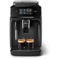 Espressor automat EP1220/00 Philips, 15 bar, 2 bauturi, Afisaj tactil, Rezervor 1.8 l, Setare Eco, Sistem classic de spumare a laptelui, Negru