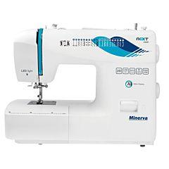 Masina de cusut Next232D Minerva, 23 programe, 850 imp/min, Alb/Albastru
