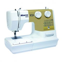 Masina de cusut M320 Minerva, 32 programe, 800 imp/min, Alb/Galben