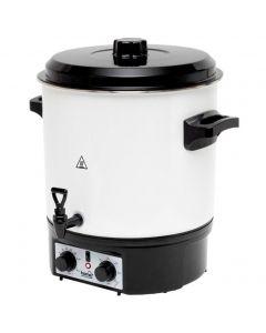 Aparat de conserve HG BA 27 Home, Capacitate 27l, Timer, Sterilizator borcane max 14 borcane, , Metal, Alb/Negru