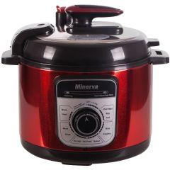 Multicooker J511 Minerva Experience, 900 W, 5 L, 12 programe, Carcasa Otel,  Rosu