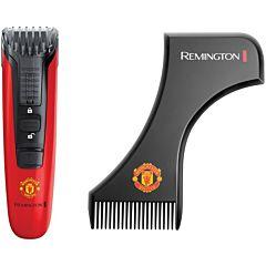 Aparat de tuns pentru barba MB4128 Remington Manchester United, Lame CaptureTrim, 9 Trepte de taiere, Autonomie 40min, Lame lavabile, Indicator LED, Rosu/ Negru