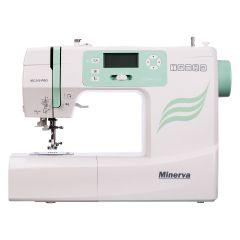 Masina de cusut digitala MC210PRO Minerva, 197 programe, 800 imp/min, 70W, Alb