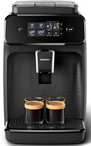 Espressor automat Philips EP1200, 15 bar, 2 bauturi, 12 setari de macinare, Afisaj tactil, Rezervor 1.8 l, Setare Eco, 1500W, Negru
